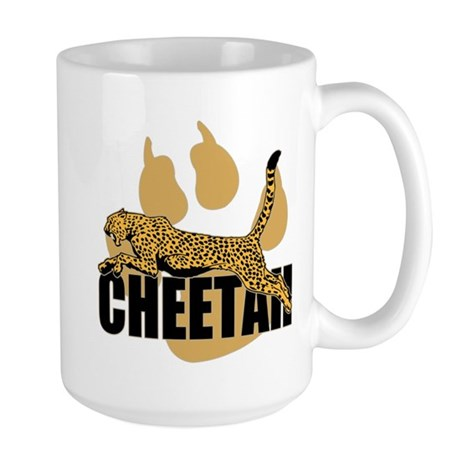 Cheetah Power Large Mug