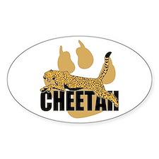 Cheetah Power Oval Decal