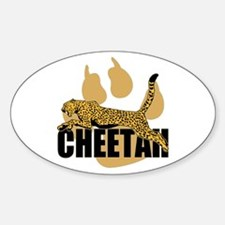 Cheetah Power Oval Decal