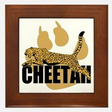 Cheetah Power Framed Tile