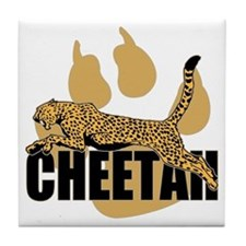 Cheetah Power Tile Coaster