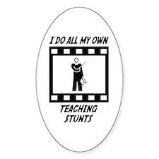 Teaching Stunts Oval Sticker (10 pk)
