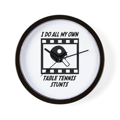 Table Tennis Stunts Wall Clock