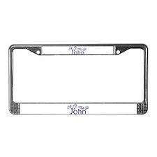 John License Plate Frame
