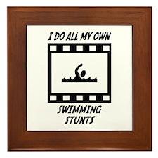 Swimming Stunts Framed Tile