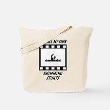 Swimming Stunts Tote Bag