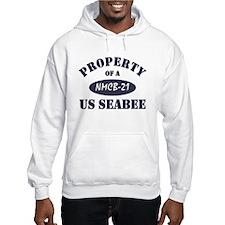 Property of NMCB 21 Seabee Hoodie