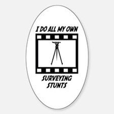Surveying Stunts Oval Decal