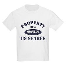 Property of NMCB 21 Seabee Kids T-Shirt