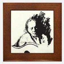 Cute Nelson mandela Framed Tile