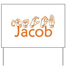 Jacob-orange Yard Sign