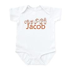 Jacob-orange Infant Bodysuit