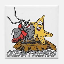 Oceans Friends Tile Coaster