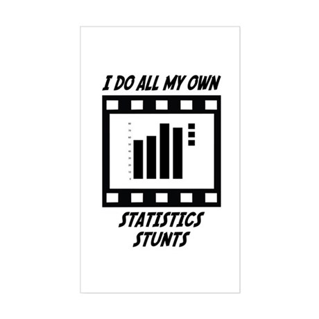 Statistics Stunts Rectangle Sticker