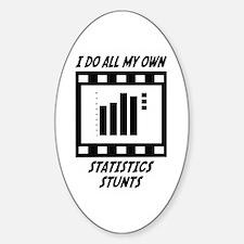 Statistics Stunts Oval Decal