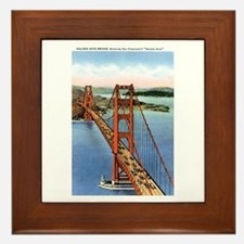 Golden Gate CA Framed Tile