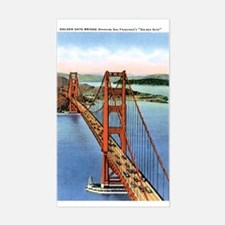 Golden Gate CA Rectangle Decal