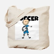 SOCCER Stick Figure Tote Bag