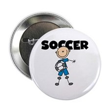 "SOCCER Stick Figure 2.25"" Button (10 pack)"