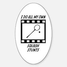 Squash Stunts Oval Decal