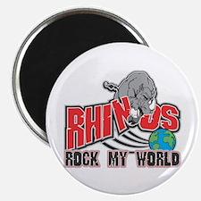 Rhinos Rock My World Magnet
