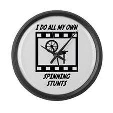 Spinning Stunts Large Wall Clock