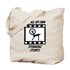 Spinning Stunts Tote Bag