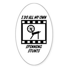 Spinning Stunts Oval Decal