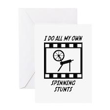 Spinning Stunts Greeting Card
