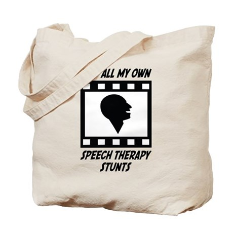 Speech Therapy Stunts Tote Bag