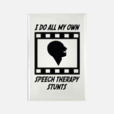 Speech Therapy Stunts Rectangle Magnet