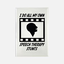 Speech Therapy Stunts Rectangle Magnet (10 pack)