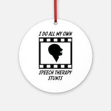 Speech Therapy Stunts Ornament (Round)