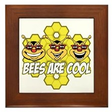 Bees are Cool Framed Tile