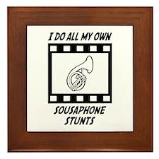Sousaphone Stunts Framed Tile