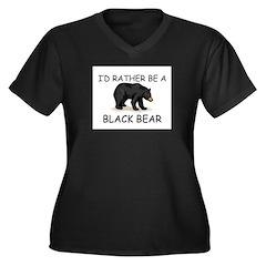 I'd Rather Be A Black Bear Women's Plus Size V-Nec