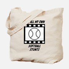 Softball Stunts Tote Bag