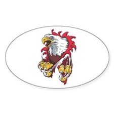 Ripped Eagle Oval Decal