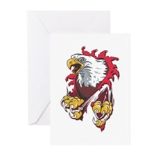 Ripped Eagle Greeting Cards (Pk of 20)