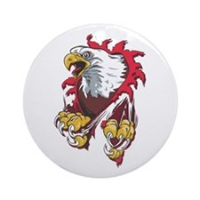 Ripped Eagle Ornament (Round)