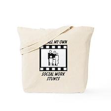 Social Work Stunts Tote Bag
