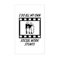 Social Work Stunts Rectangle Decal