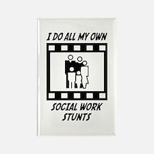 Social Work Stunts Rectangle Magnet