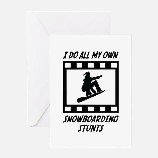 Snowboarding Stunts Greeting Card