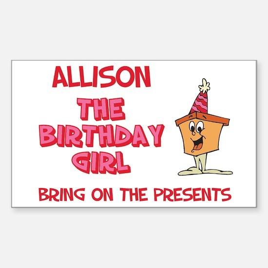Happy Birthday Allison Rectangle Decal