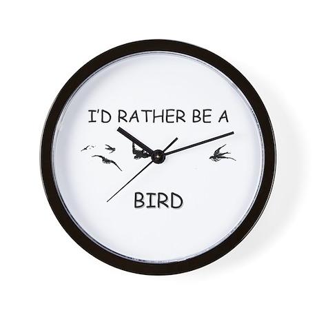 I'd Rather Be A Bird Wall Clock