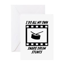 Snare Drum Stunts Greeting Card