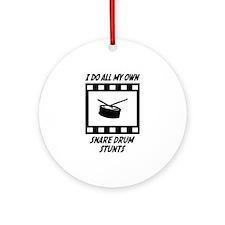 Snare Drum Stunts Ornament (Round)