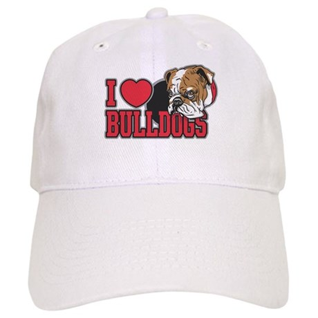 I Love Bulldogs Cap