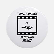 Skydiving Stunts Ornament (Round)